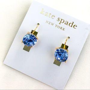 Kate spade blue crystal earrings